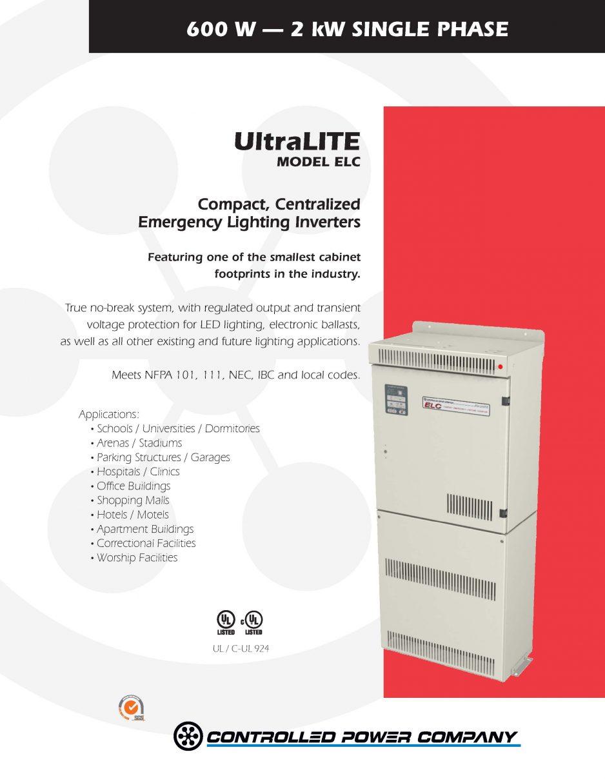 UltraLITE ELC Brochure  sc 1 st  Total Online Protection & Lighting Inverters | Total Online Protection azcodes.com