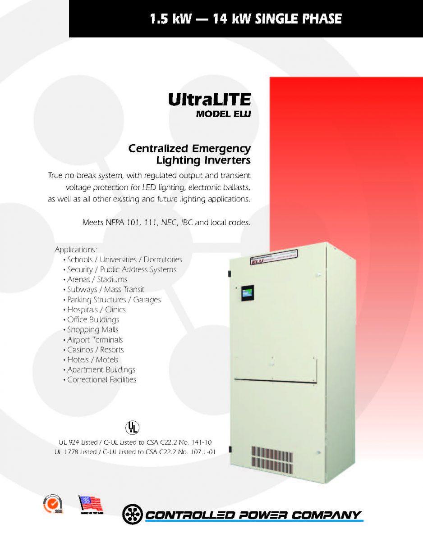 UltraLITE ELU Brochure  sc 1 st  Total Online Protection & Lighting Inverters | Total Online Protection azcodes.com